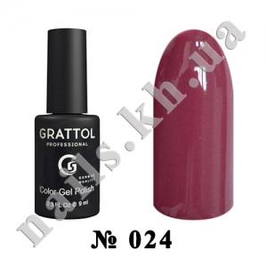 024 - Grattol Color Gel Polish  Dusty Purple, 9ml