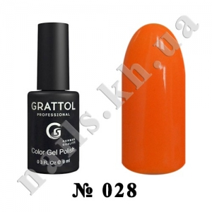 028 - Grattol Color Gel Polish  Tangerin, 9ml
