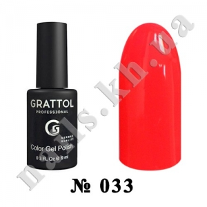033 - Grattol Color Gel Polish  Granberry, 9ml
