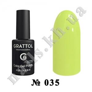 035 - Grattol Color Gel Polish  Pastel Lemon, 9ml