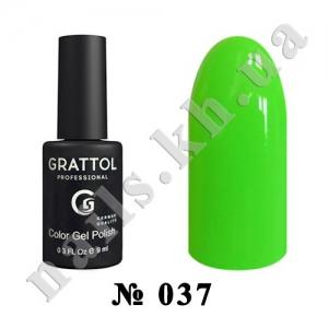 037 - Grattol Color Gel Polish  Lime, 9ml