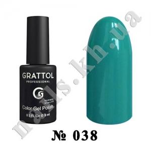 038 - Grattol Color Gel Polish  Celadon, 9ml