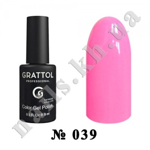 039 - Grattol Color Gel Polish  Rose, 9ml