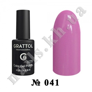 041 - Grattol Color Gel Polish  Mauve, 9ml