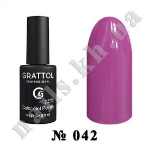 042 - Grattol Color Gel Polish  Indigo, 9ml