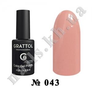 043 - Grattol Color Gel Polish  Pink Coral, 9ml