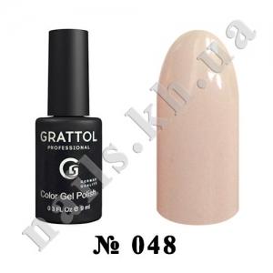 048 - Grattol Color Gel Polish  Light Beige, 9ml
