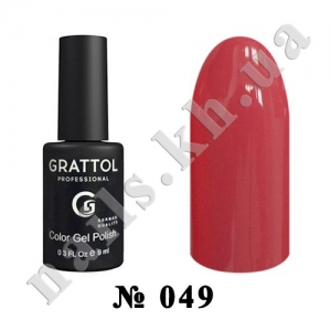 049 - Grattol Color Gel Polish  Amarant, 9ml