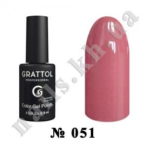 051 - Grattol Color Gel Polish  Dusty Rose, 9ml