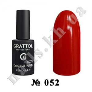 052 - Grattol Color Gel Polish  Red, 9ml