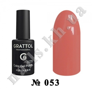 053 - Grattol Color Gel Polish  Dark Coral, 9ml