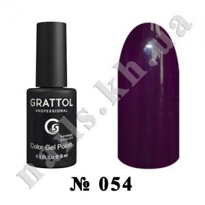 -054 - Grattol Color Gel Polish  Dark Purple, 9ml