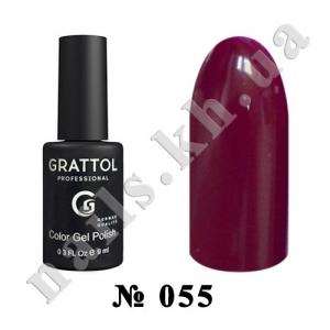 055 - Grattol Color Gel Polish  Plum, 9ml