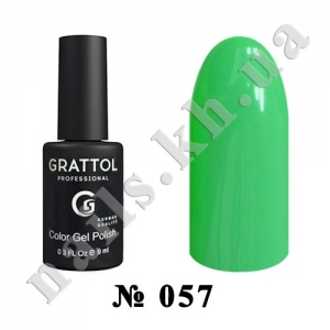 057 - Grattol Color Gel Polish  Mint, 9ml