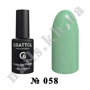 058 - Grattol Color Gel Polish  Jade, 9ml