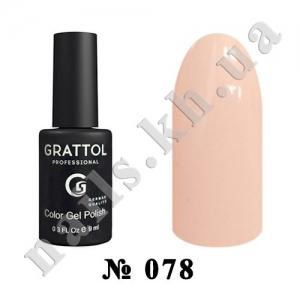 078 - Grattol Color Gel Polish  Light Peach, 9ml