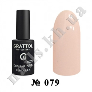 079 - Grattol Color Gel Polish  Delicate Rose, 9ml