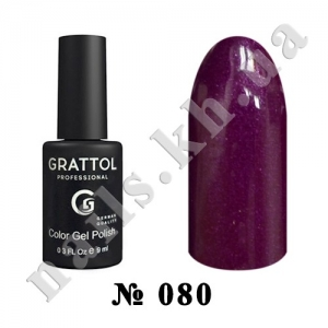 -080 - Grattol Color Gel Polish  Shining Ruby, 9ml