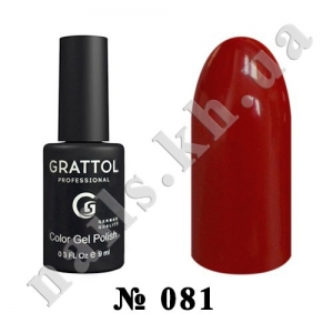 081 - Grattol Color Gel Polish  Cherry, 9ml