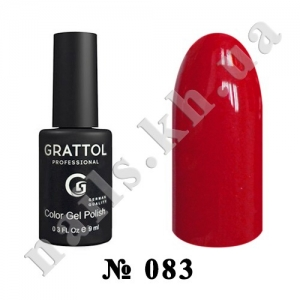 083 - Grattol Color Gel Polish  Pure Red, 9ml