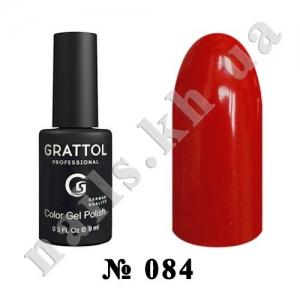 084 - Grattol Color Gel Polish  Scarlet, 9ml