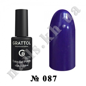 087 - Grattol Color Gel Polish  Bilberry, 9ml