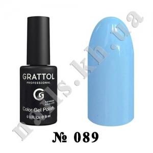 089 - Grattol Color Gel Polish  Ice Blue, 9ml