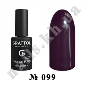 099 - Grattol Color Gel Polish  Dark Plum, 9ml