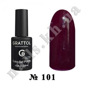 101 - Grattol Color Gel Polish  Maroon, 9ml