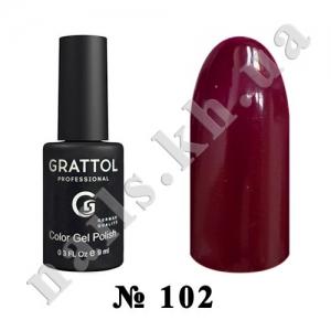 102 - Grattol Color Gel Polish  Berry, 9ml