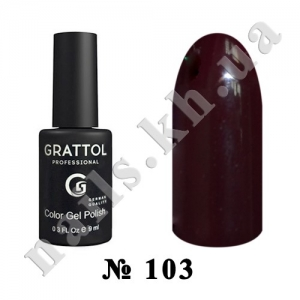 103 - Grattol Color Gel Polish  Claret, 9ml