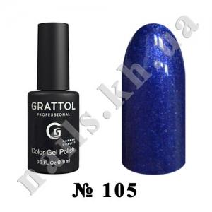 105 - Grattol Color Gel Polish  Starry Sky, 9ml
