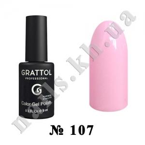 107 - Grattol Color Gel Polish  Sweet Pink, 9ml