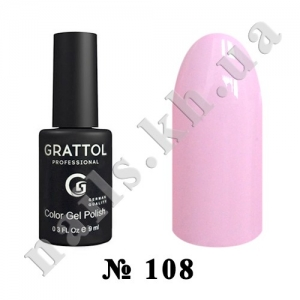 108 - Grattol Color Gel Polish  Tender Rose, 9ml