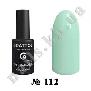 112 - Grattol Color Gel Polish  Honeydew, 9ml