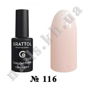 116 - Grattol Color Gel Polish  Light Cream, 9ml
