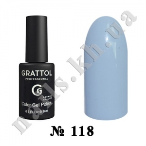 118 - Grattol Color Gel Polish  Pale Cornflower, 9ml