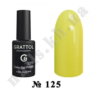 125 - Grattol Color Gel Polish  Light Yellow, 9ml