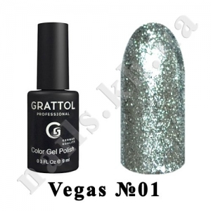 001 - Grattol Color Gel Polish  Vegas, 9 ml
