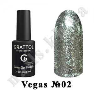 002 - Grattol Color Gel Polish  Vegas, 9 ml