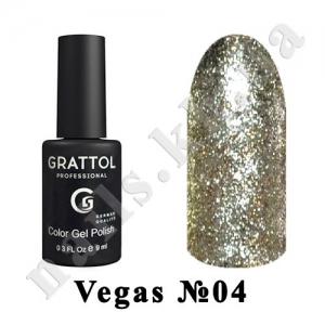 004 - Grattol Color Gel Polish  Vegas, 9 ml