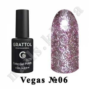 006 - Grattol Color Gel Polish  Vegas, 9 ml