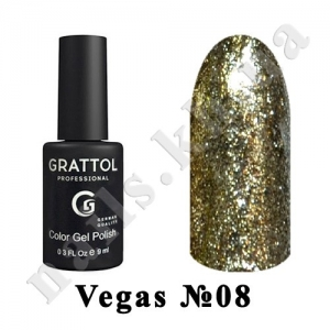 008 - Grattol Color Gel Polish  Vegas, 9 ml