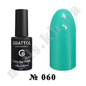 060 - Grattol Color Gel Polish  Turquoise, 9ml