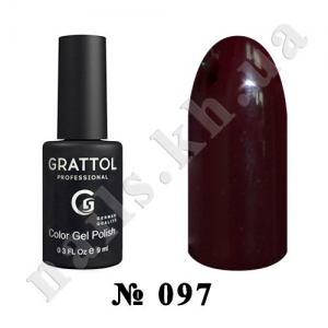 097 - Grattol Color Gel Polish  Rouge Noir, 9ml