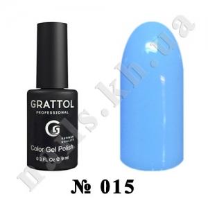 015 - Grattol Color Gel Polish  Ваву Blue, 9ml