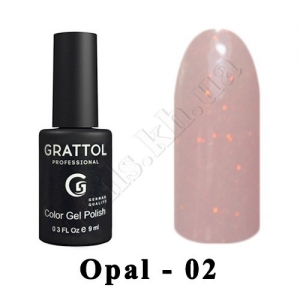 002 - Grattol Color Gel Polish OS  Opal, 9ml