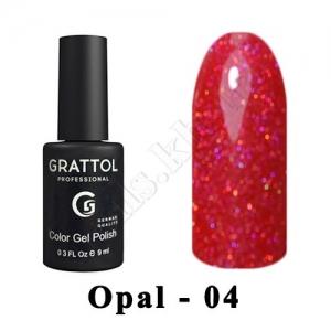 004 - Grattol Color Gel Polish OS  Opal, 9ml