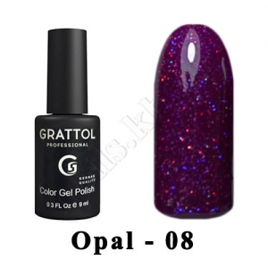 008 - Grattol Color Gel Polish OS  Opal, 9ml