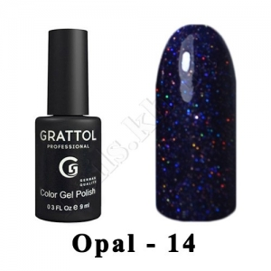014 - Grattol Color Gel Polish OS  Opal, 9ml